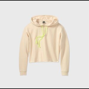 NWT Womens Fleece Cropped Hoodie